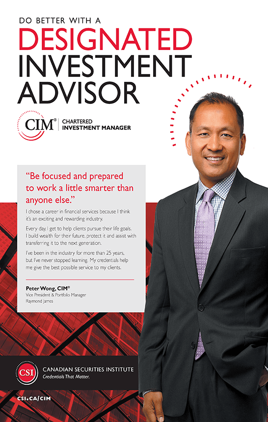 Peter Wong, CIM®: Vice President & Portfolio Manager, Raymond James